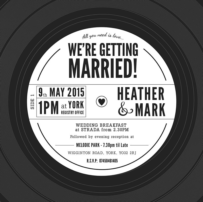 Vinyl Record Wedding Invitation - Charm Tree