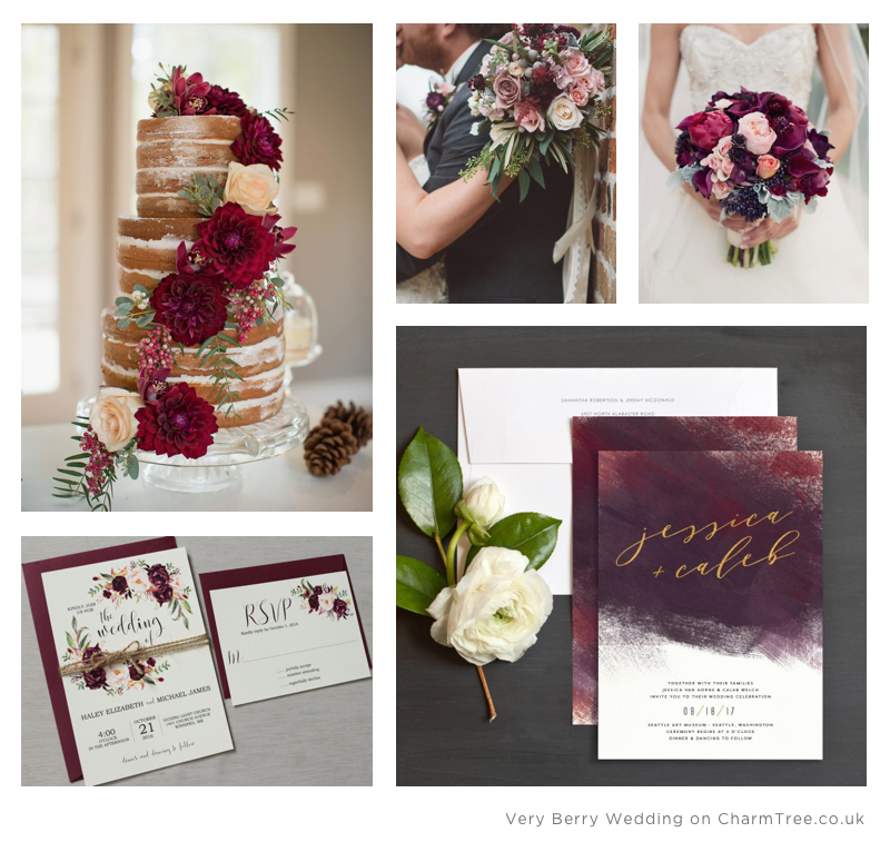 Very Berry Wedding Inspiration on Pinterest