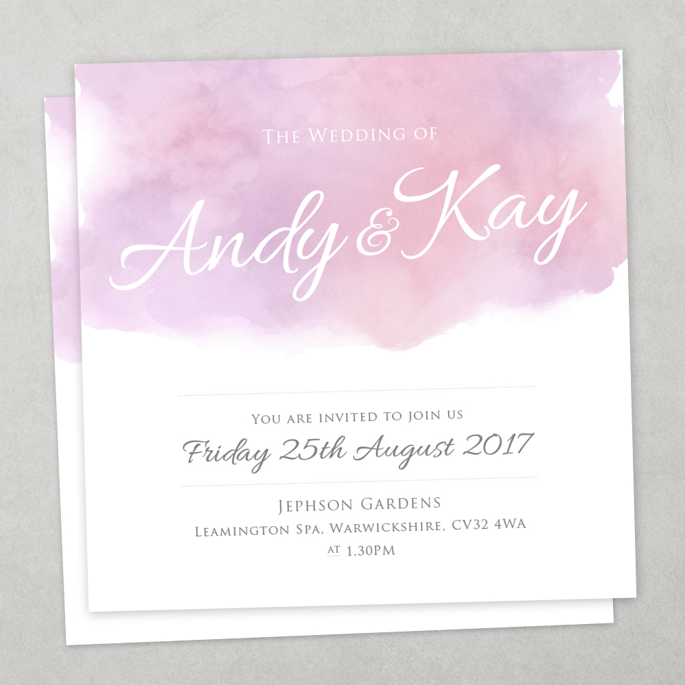 pastel watercolour wedding stationary charm tree
