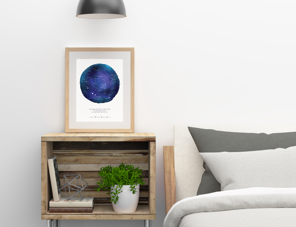 Star Map Poster Gift - Charm Tree