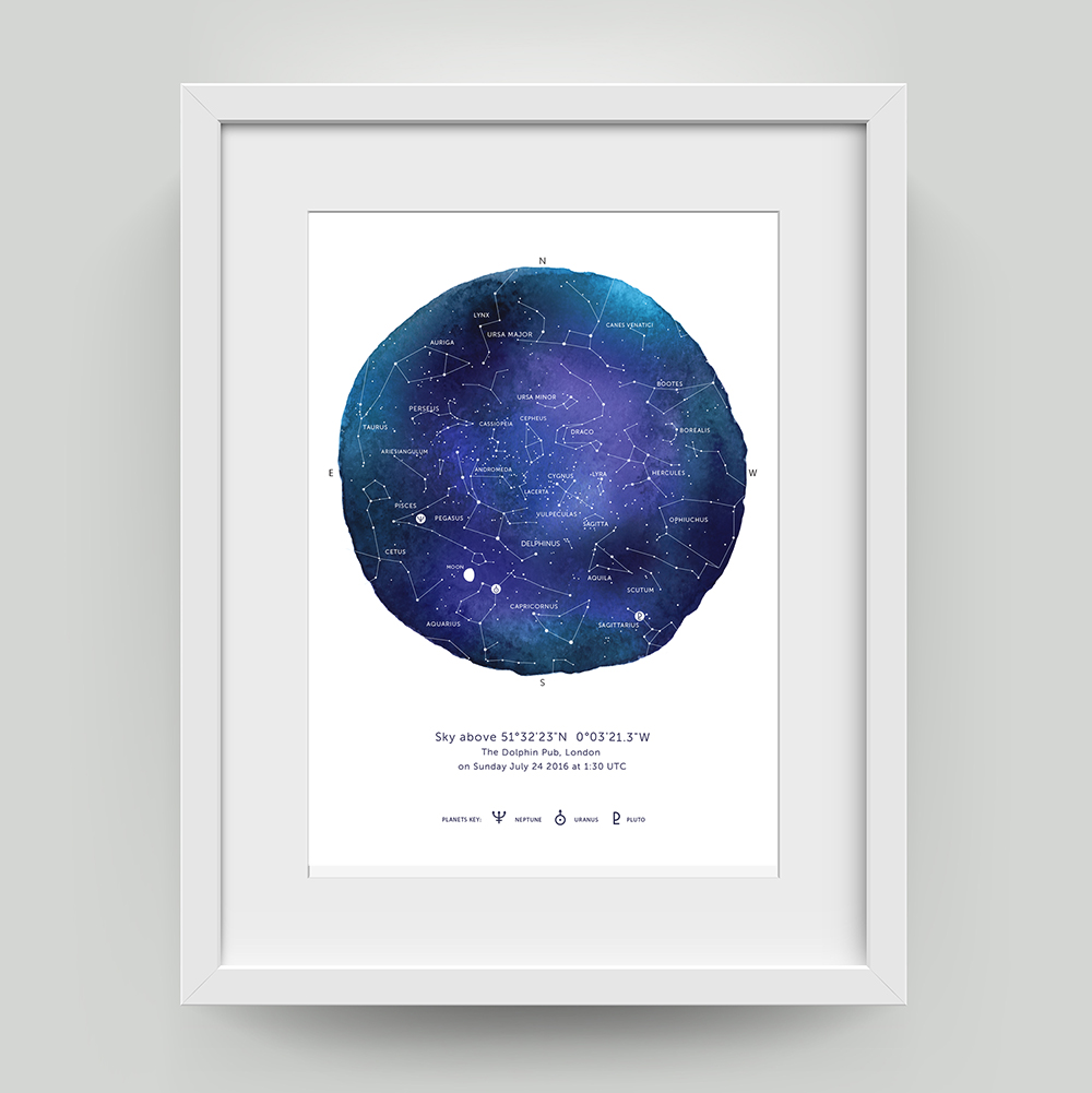 Star Map Poster Gift   Charm Tree