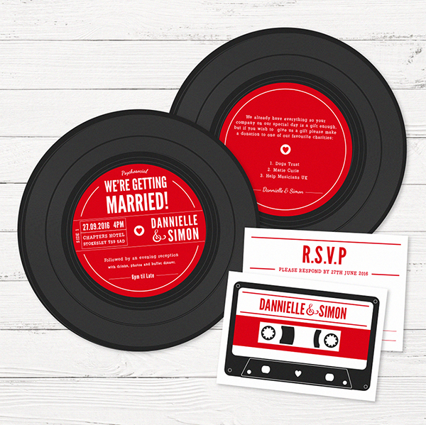 Vinyl Wedding Stationary Set