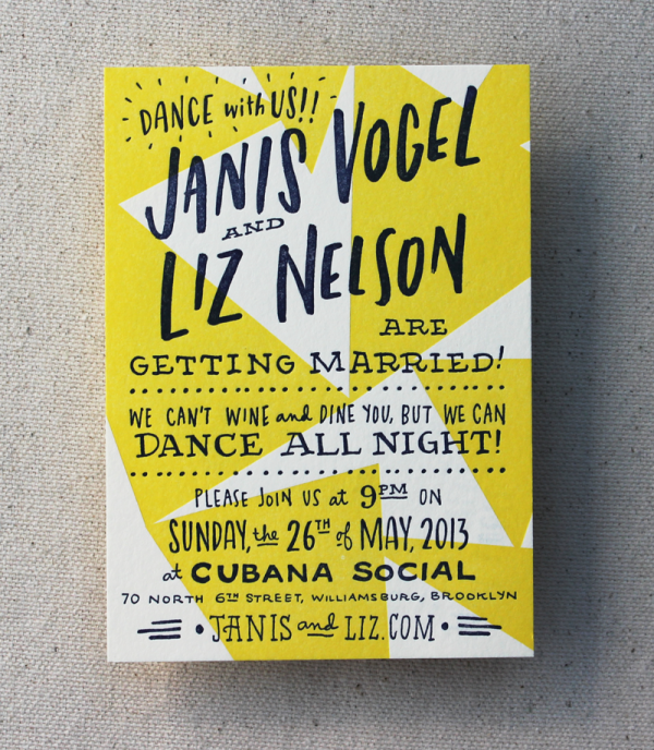 Retro Dance Poster Invitation