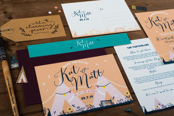 Festival Themed Wedding Stationery
