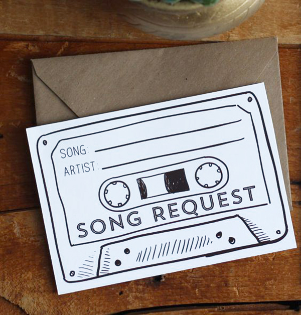 Mixtape Song Request Card