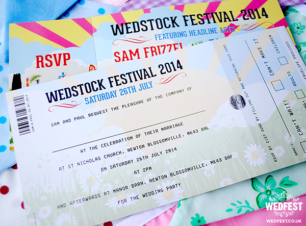 Festival Ticket Style Invitation